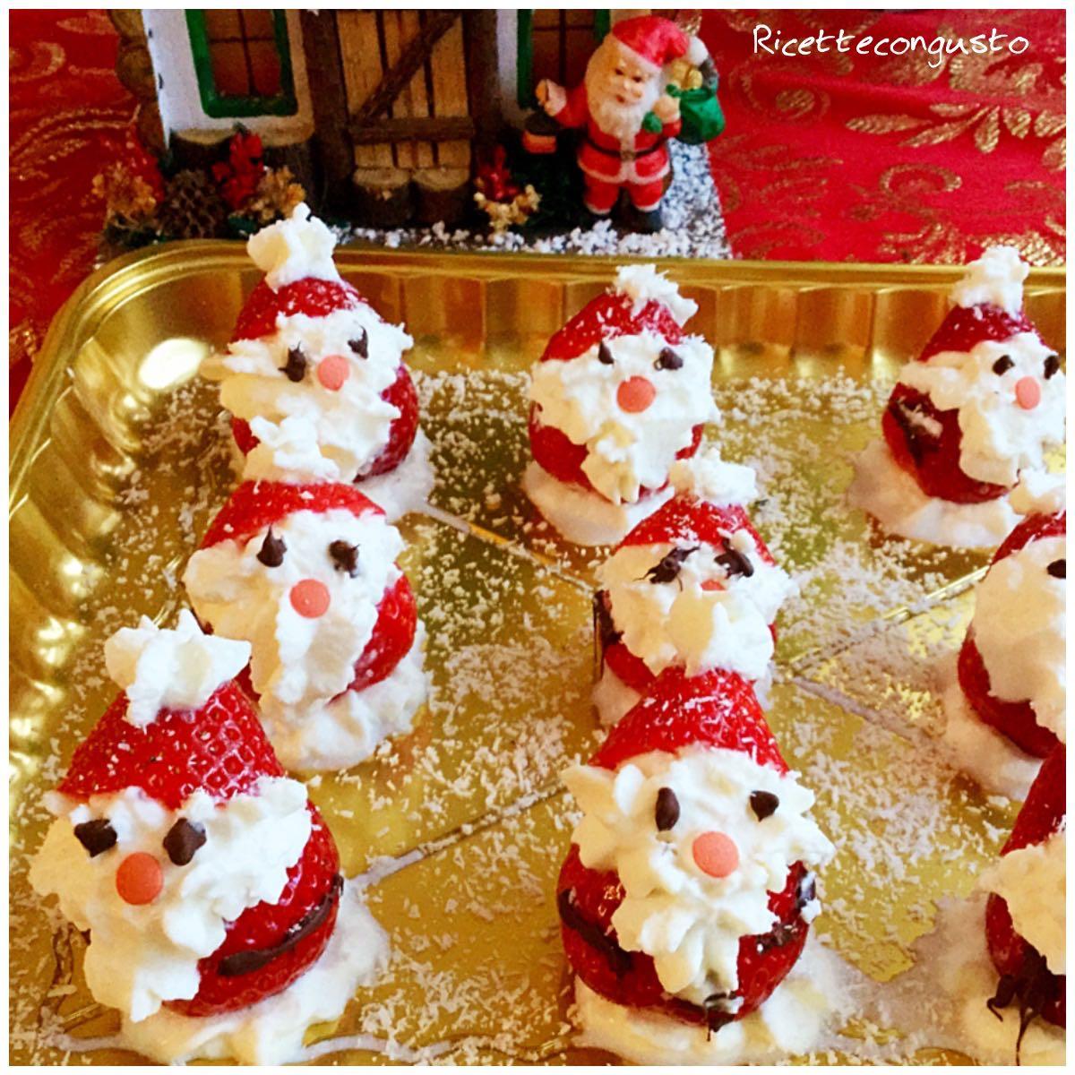 Babbo Natale di fragola e panna
