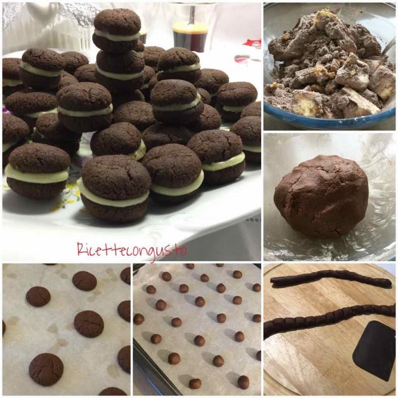 Baci di dama al cacao e cioccolato bianco