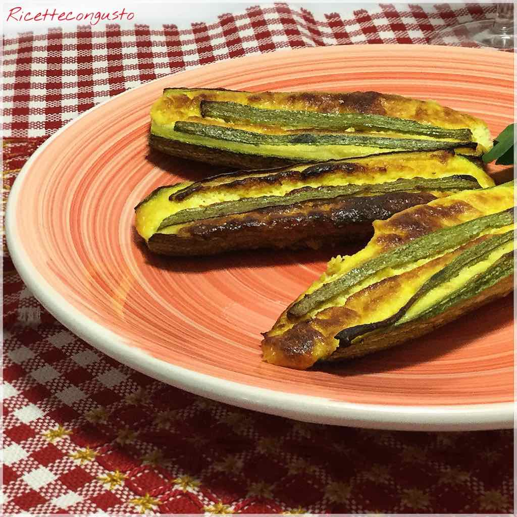Barchette di zucchine e ricotta