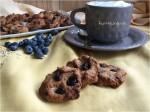 Biscotti integrali con farina di riso e d'avena ai frutti rossi
