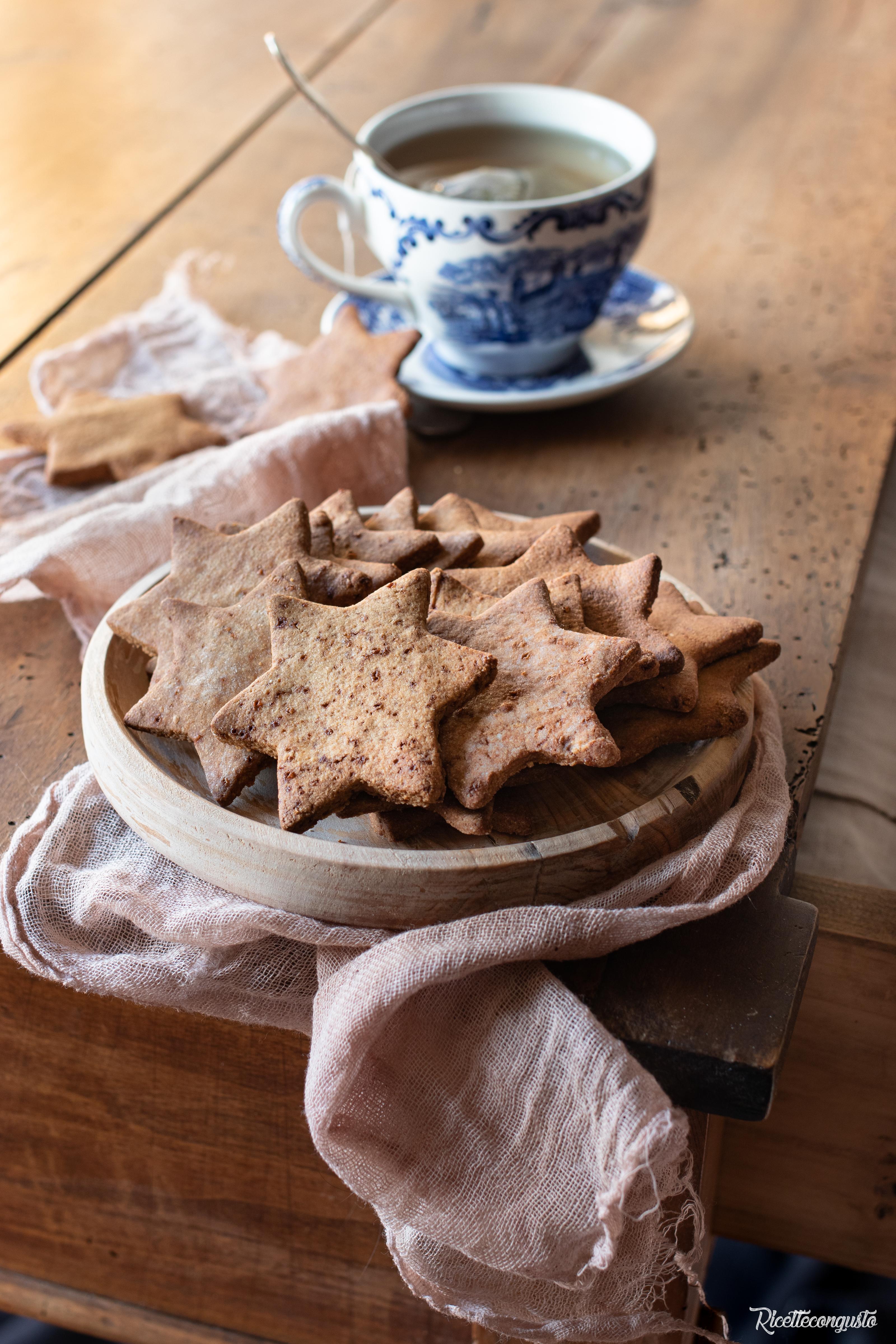 Biscotti integrale con olio e zucchero di cocco