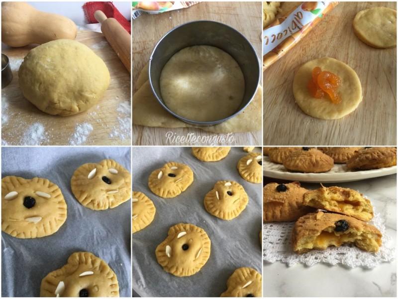 Biscotti di zucca e mandorle con confettura di albicocca