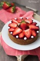 Cheesecake al forno con fragole