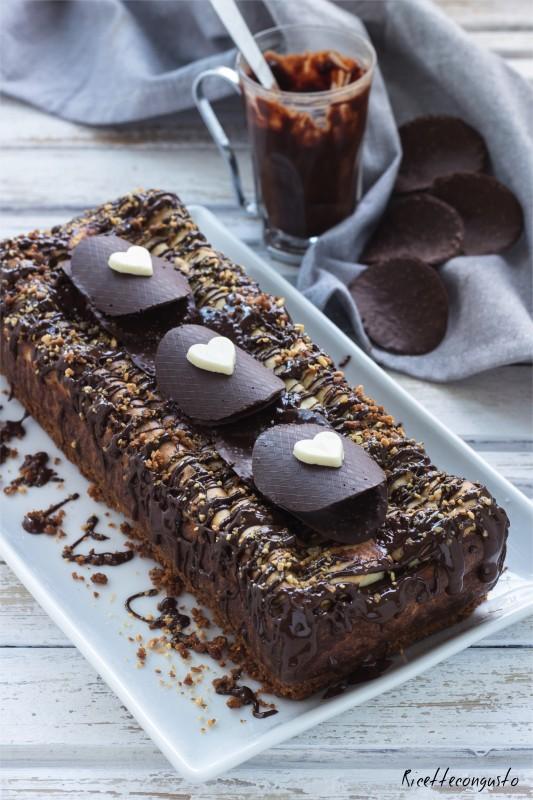 Cheesecake plumcake di ricotta al forno con cioccolato fondente