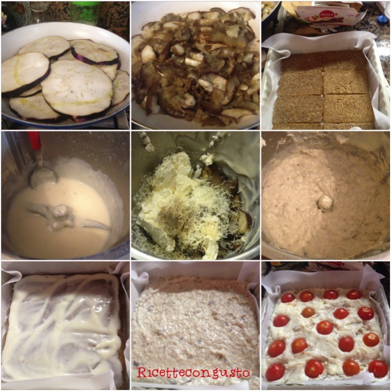 Cheesecake salata di melanzane