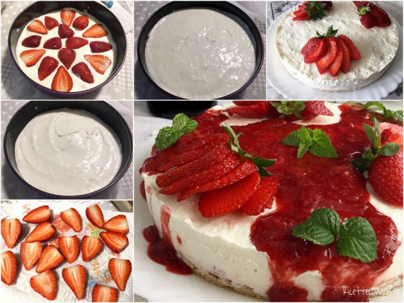 Cheesecake yogurt e fragole