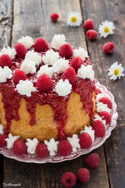 Chiffon cake ai lamponi