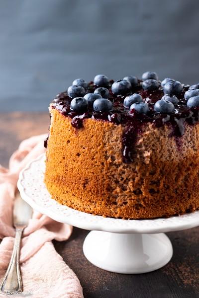 Chiffon cake ai mirtilli