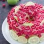 Chiffon cake con crema all'acqua al limone e lamponi