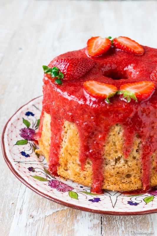 Chiffon cake alle fragole