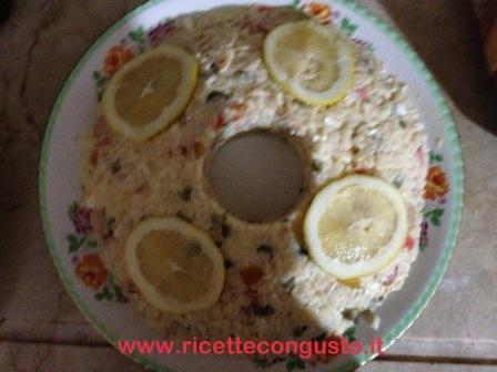 Ciambella di riso fredda con maionese