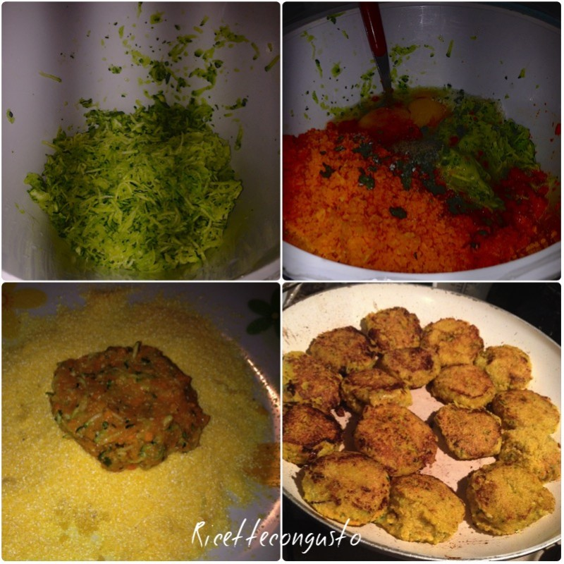 Crocchette di zucchine e carote croccanti