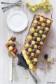 Crostata all'uva e crema pasticcera