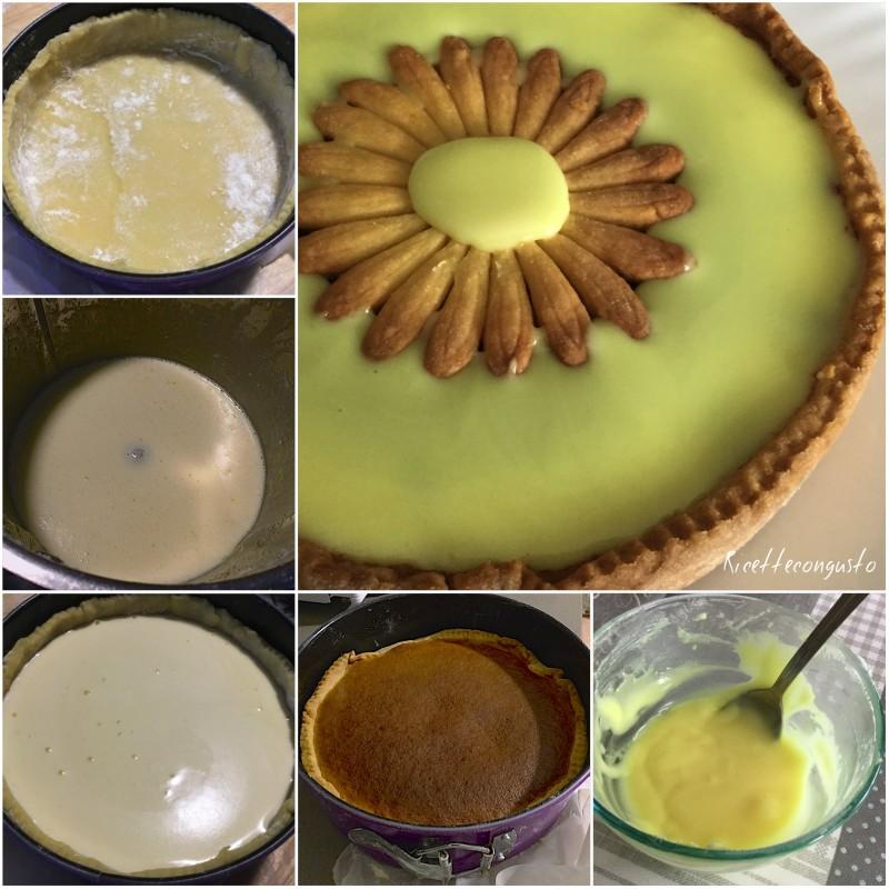 Crostata con crema limoncina e glassa al limoncello