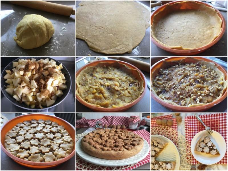 Crostata al farro con mele, noci e cannella