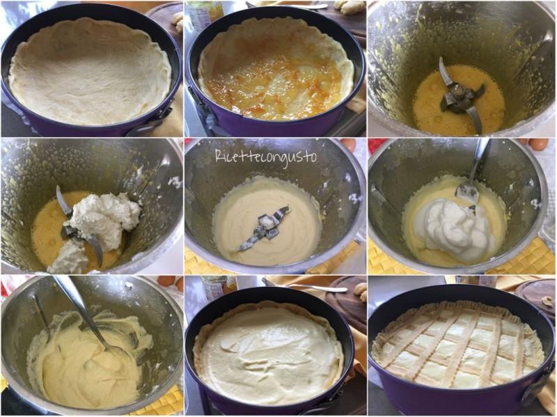 Crostata al farro con crema di ricotta e marmellata di arance amare