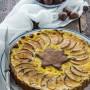 Crostata con frolla di castagne crema pasticcera e mele