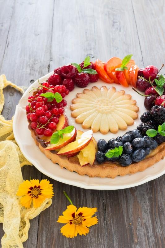 Crostata alla panna cotta e frutta fresca