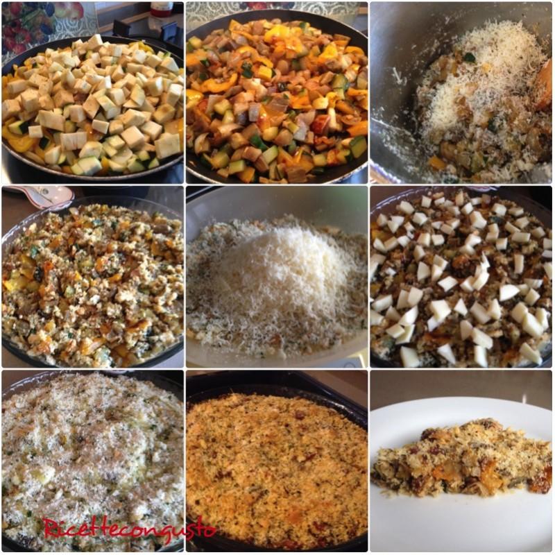 Crumble di peperoni, zucchine e melanzane