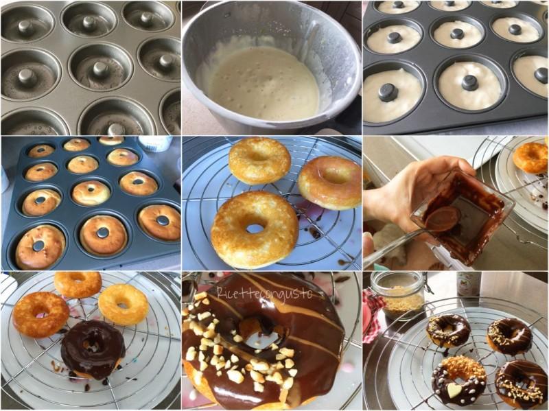 Donuts al formaggio fresco e cioccolato fondente