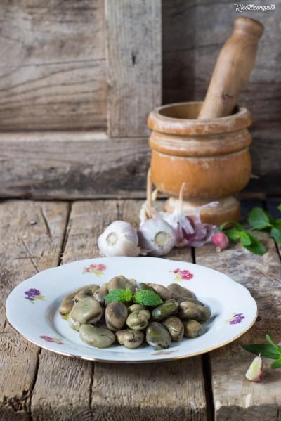 Fave aglio e menta