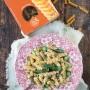 Fusilli integrali con asparagi e gamberetti