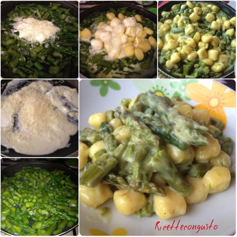 Gnocchi asparagi e crescenza