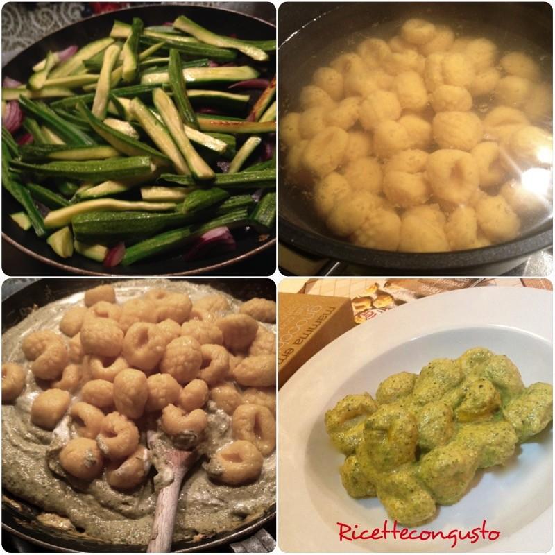 Gnocchi con crema di zucchine e zafferano