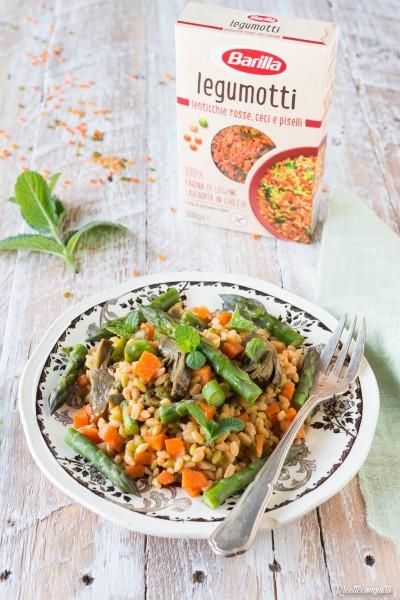 Insalata di legumotti con verdure di stagione