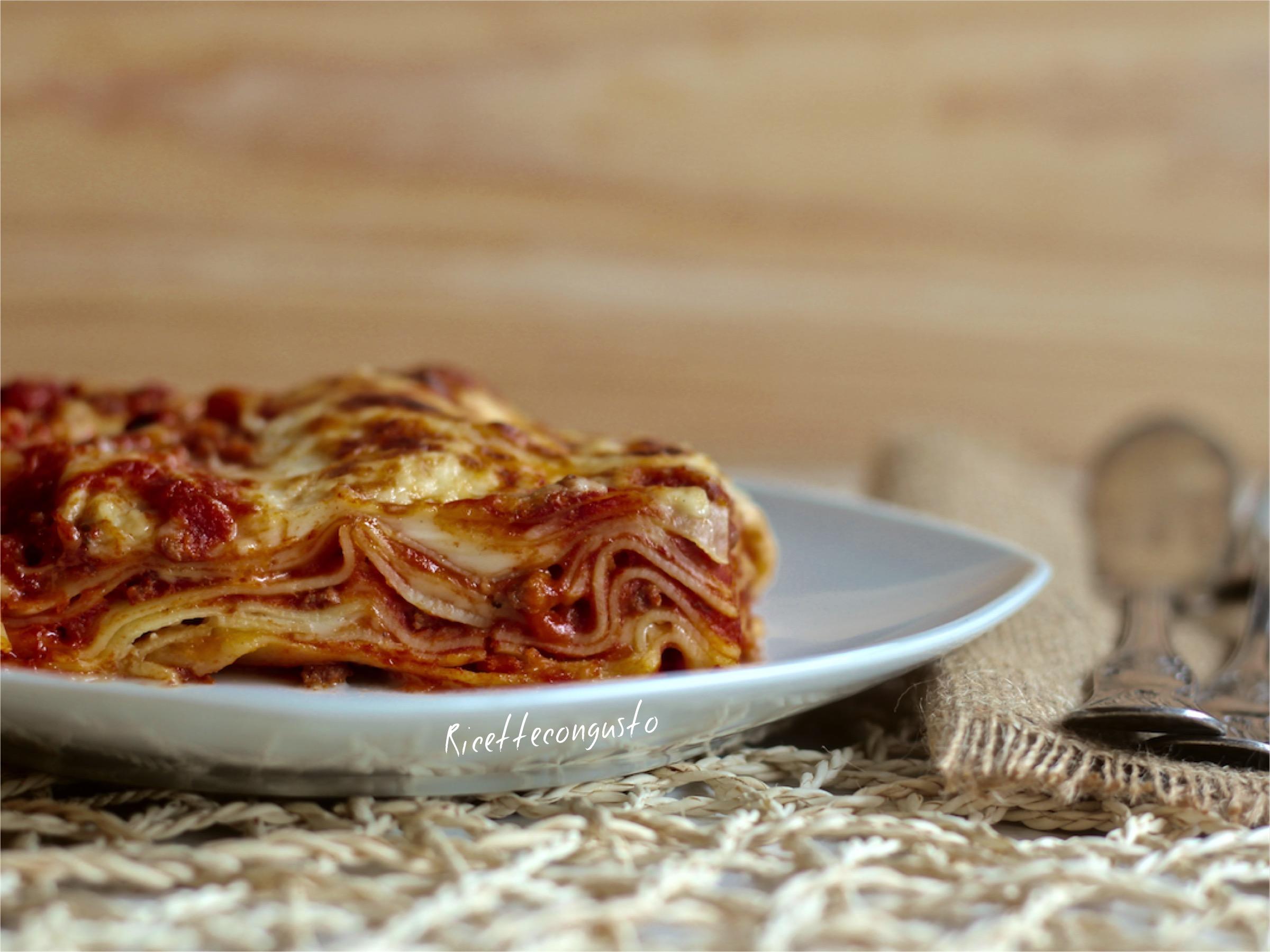 Lasagne al ragù di carne e zucca
