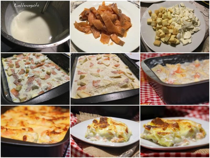 Lasagne affumicate al salmone e alla scamorza
