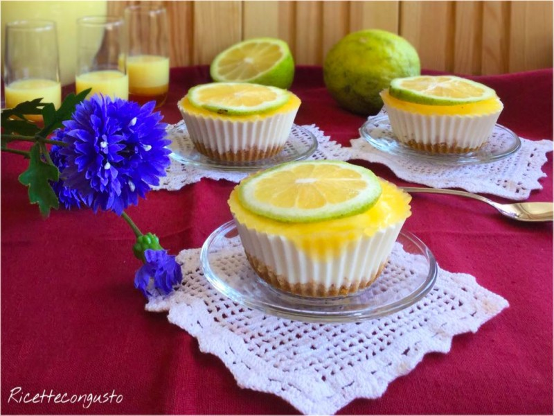 Mini cheesecake al limone limoncello