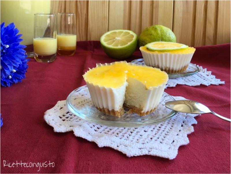 Mini cheesecake al limone e limoncello
