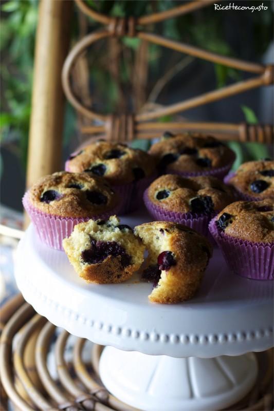 Muffin ai mirtilli con sorpresa!