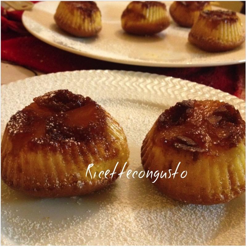Muffins allo yogurt con ananas caramellato