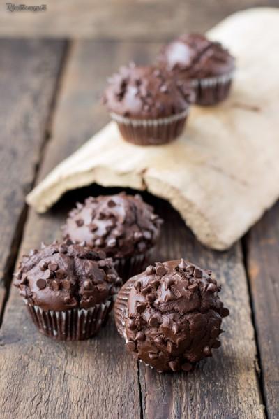 Muffins allo yogurt e cioccolato
