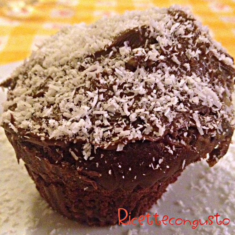 Muffin doppio cioccolato e cocco