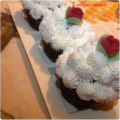 Muffins al cacao e panna