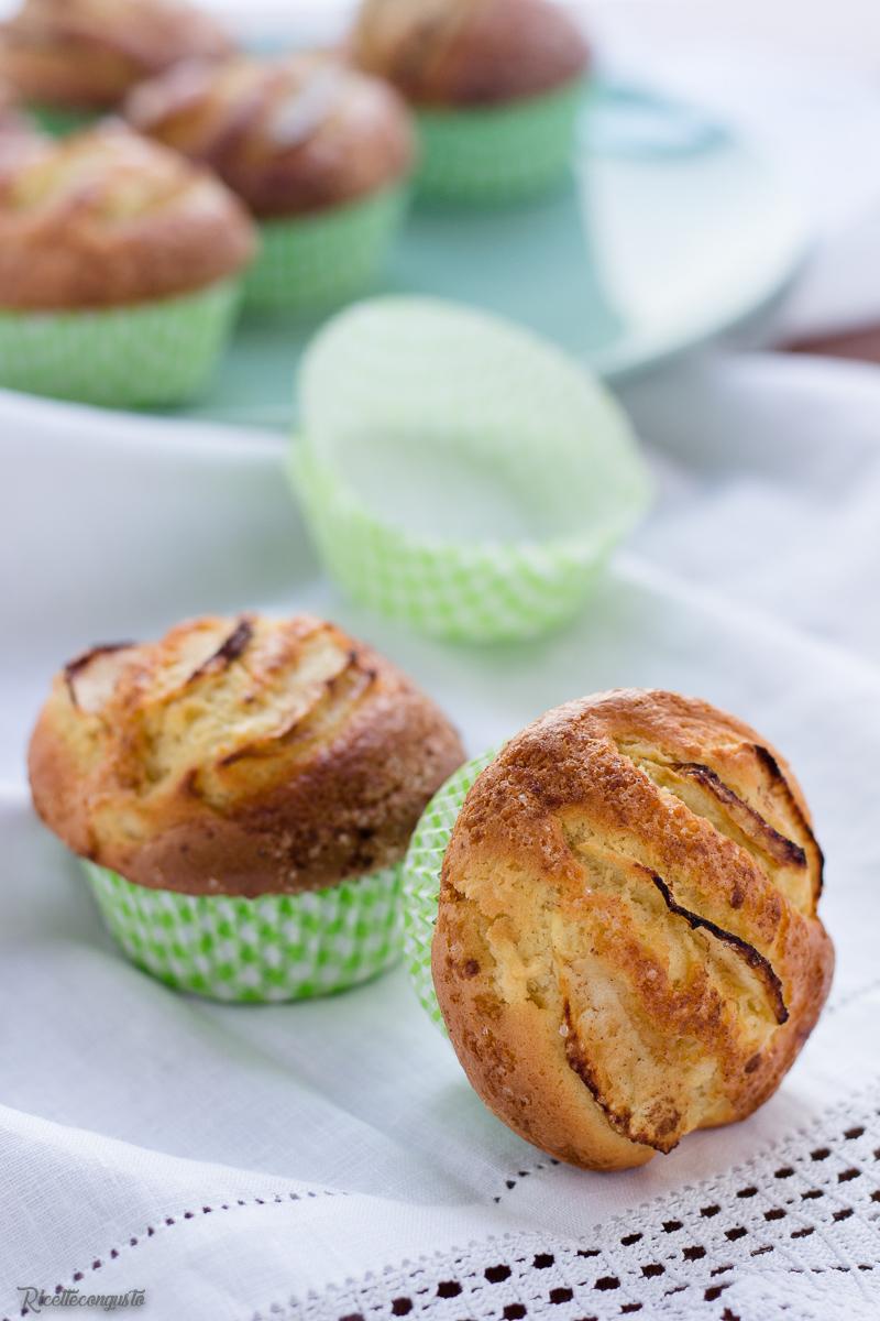 Muffin morbidi mele e cannella
