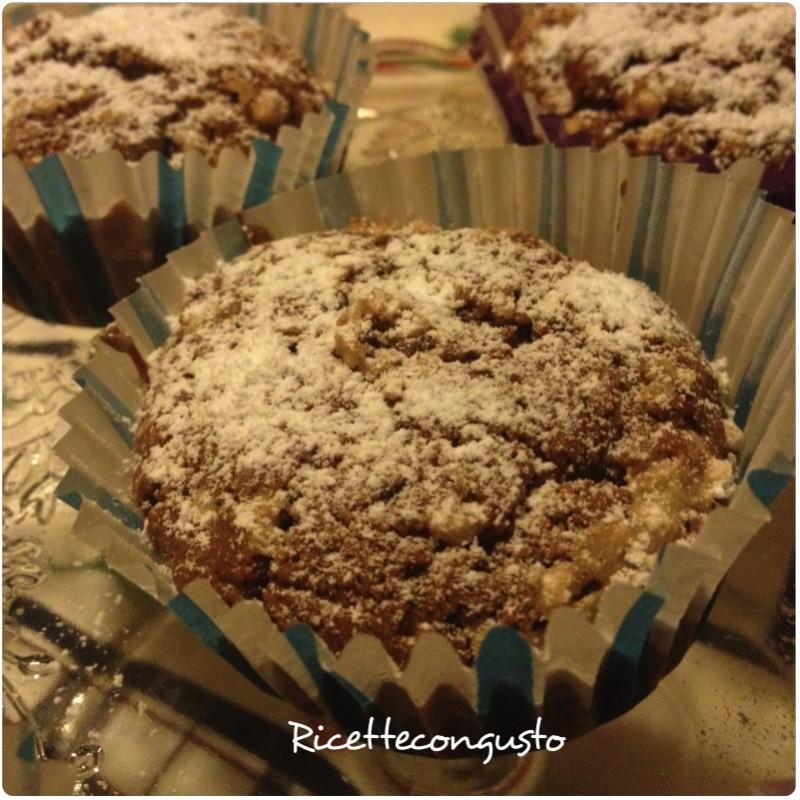 Muffin senza glutine con cacao e nocciole