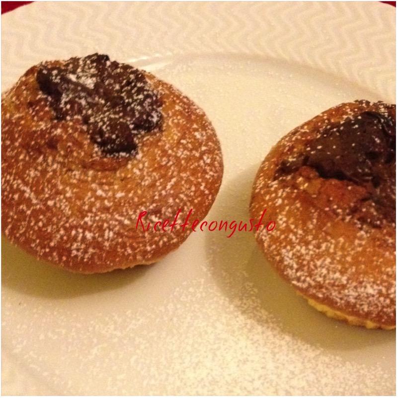 Muffins allo yogurt con nutella