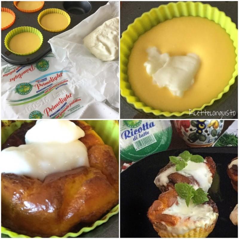 Muffin frittatine allo stracchino