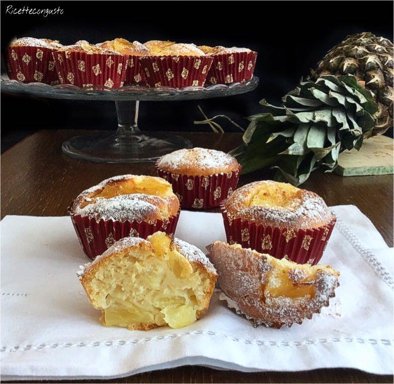 Muffin al succo e ananas senza latte senza uova