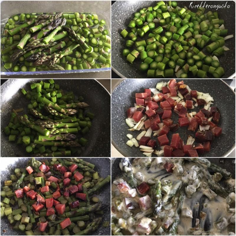 Orecchiette con asparagi e speck