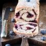 Bauletto di panbrioche con mirtilli (impasto con ricotta)