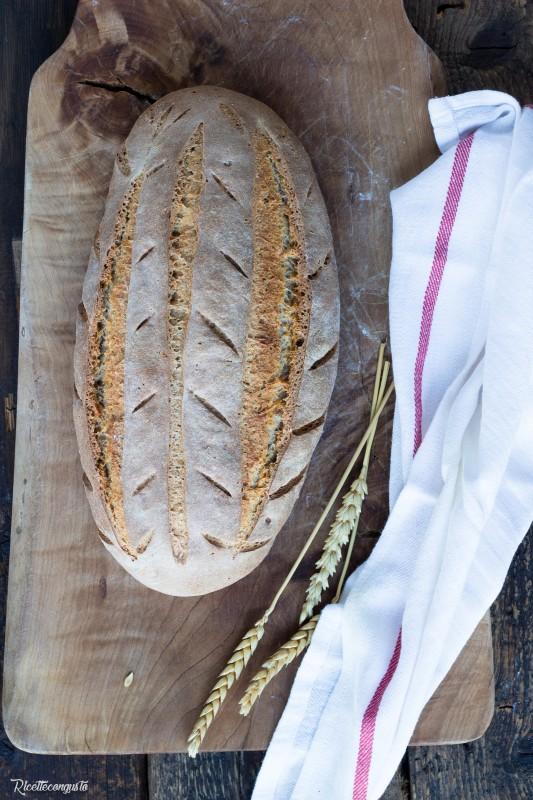 Pane di grano duro e di segale con lievito madre