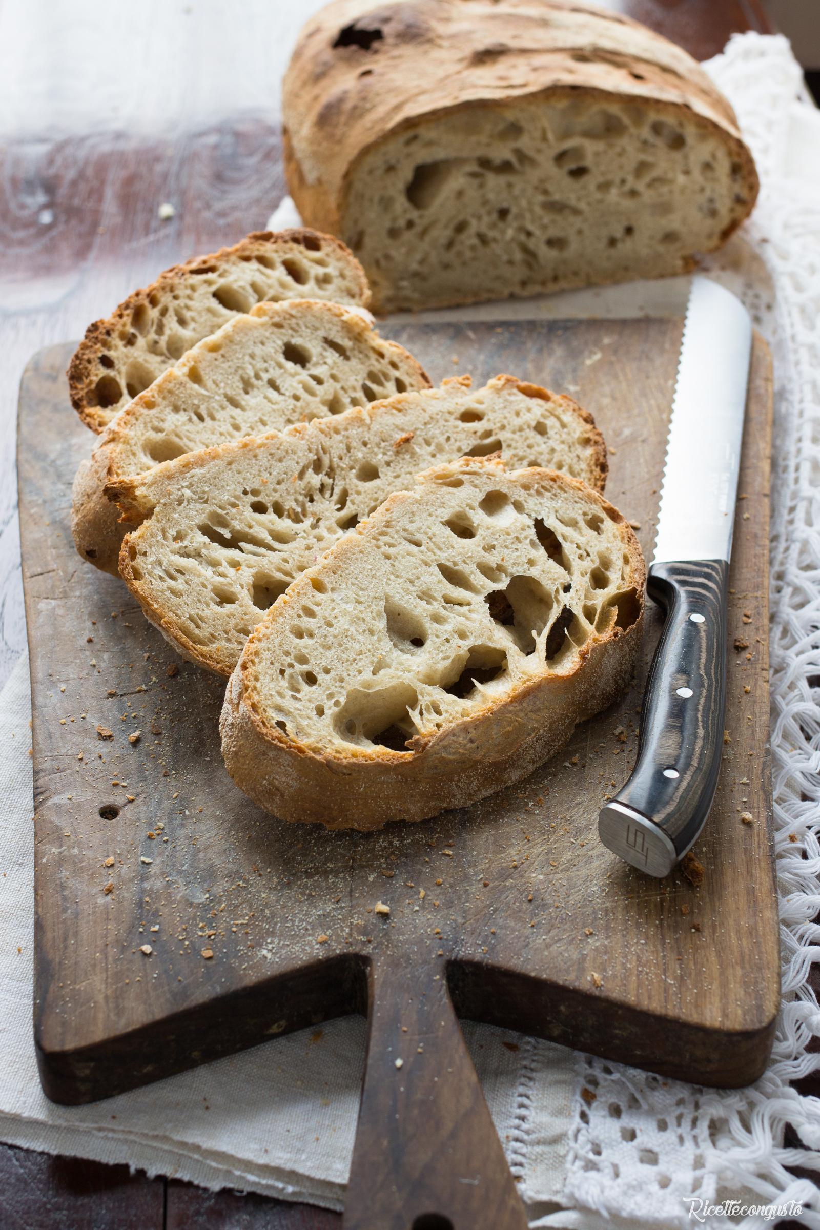 Pane di grano duro e farina di tipo 1 con lievito madre