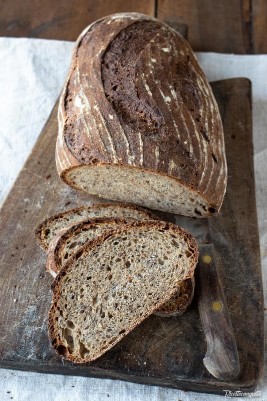 Pane con grano saraceno e farro