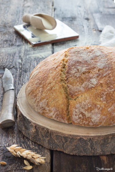 Pane di semola di grano duro con lievito madre