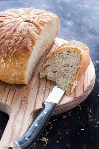 Pane di semola di grano duro e farina di tipo 2 (cottura in pentola)